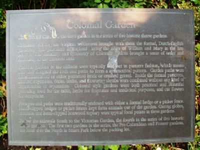 Colonial Garden Marker image. Click for full size.