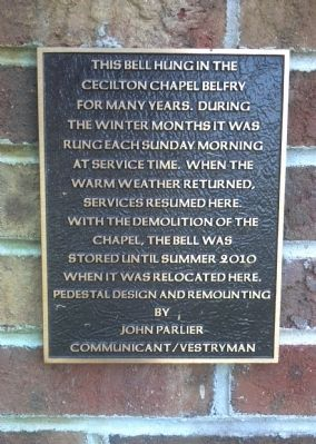 St. Peters Church Bell Marker image. Click for full size.