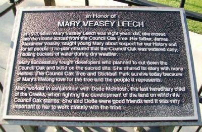 Mary Veasey Leech Marker image. Click for full size.