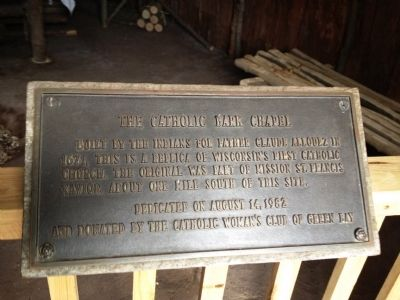 The Catholic Bark Chapel Marker image. Click for full size.