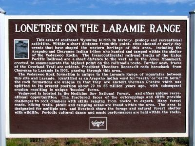 Lonetree on the Laramie Range Marker image. Click for full size.
