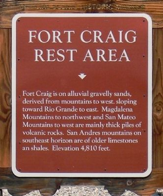 Fort Craig Rest Area Marker image. Click for full size.
