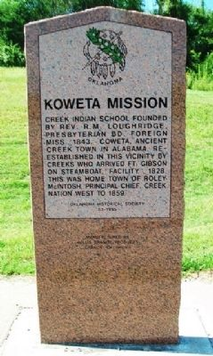 Koweta Mission Marker image. Click for full size.