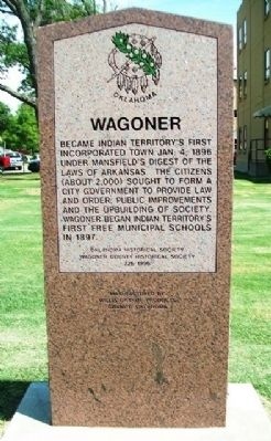 Wagoner Marker image. Click for full size.