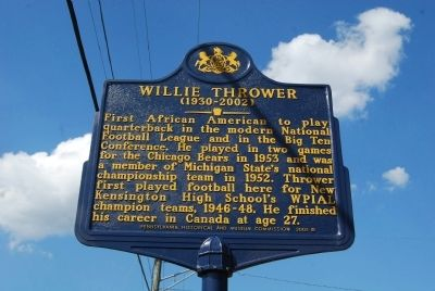 Willie Thrower Marker image. Click for full size.