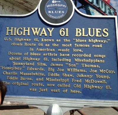 Highway 61 Blues Marker image. Click for full size.