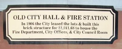 Old City Hall & Fire Station Marker image. Click for full size.