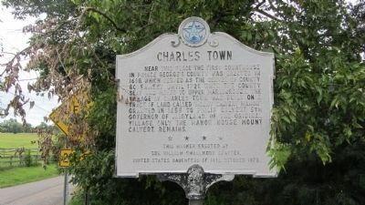 Charles Town Marker image. Click for full size.