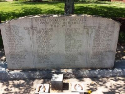 Tallapoosa County World War II Memorial image. Click for full size.