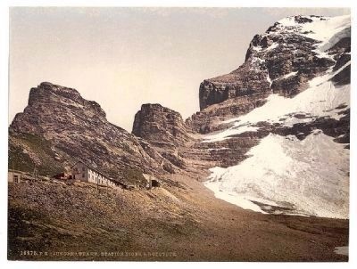Jungfrau, railroad station, Eiger and Rothstock, Bernese Oberland, Switzerland image. Click for full size.