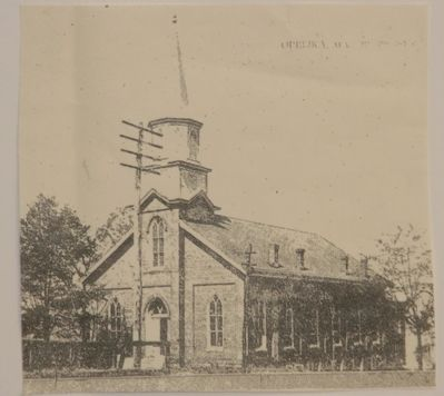 First United Methodist Church, Opelika prior to the 1909 remodeling. image. Click for full size.