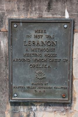Daughter of the American Revolution Marker placed at the site of the founding church in 1937. image. Click for full size.