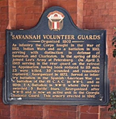 Savannah Volunteer Guards Marker image. Click for full size.