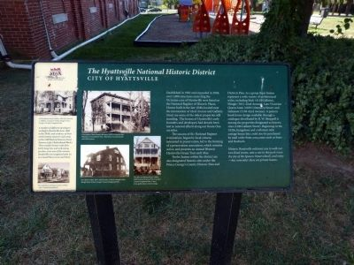 The Hyattsville National Historic District Marker image. Click for full size.