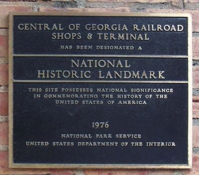 Central Of Georgia Railroad Marker image. Click for full size.