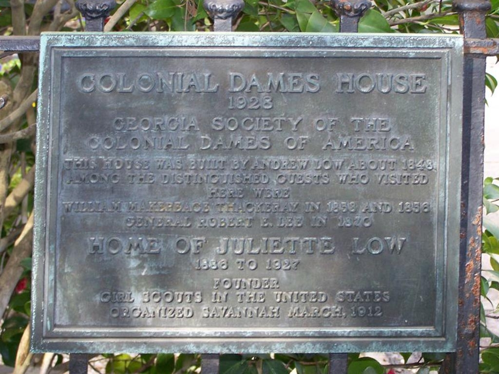 Colonial Dames House Marker