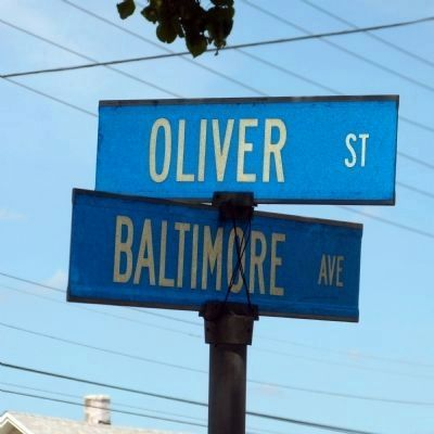 Oliver Street and Baltimore Avenue image. Click for full size.