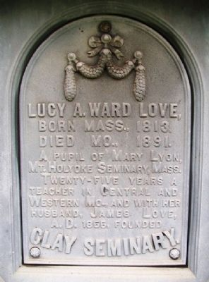 Lucy A. Ward Love Marker image. Click for full size.