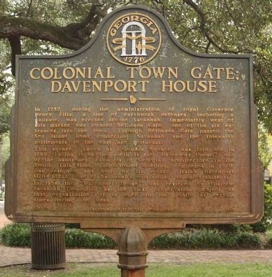 Colonial Town Gate Marker image. Click for full size.
