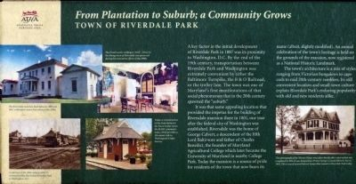 From Plantation to Suburb; a Community Grows Marker image. Click for full size.