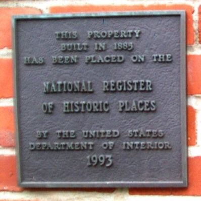 12 North Main Street NRHP Marker image. Click for full size.
