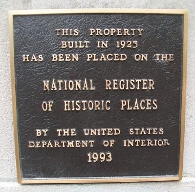 First National Bank NRHP Marker image. Click for full size.