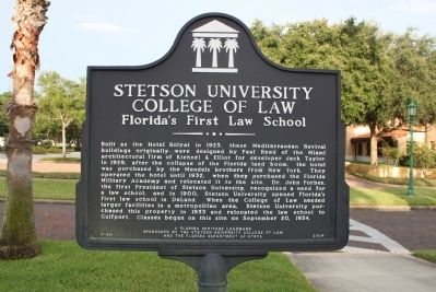 Stetson University College of Law Marker image. Click for full size.