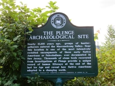 The Plenge Archaeological Site Marker image. Click for full size.