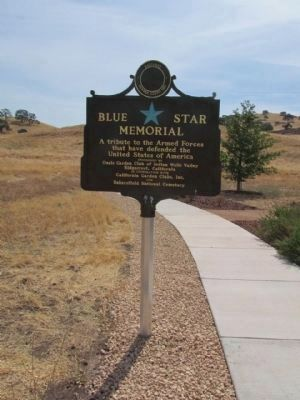 Blue Star Memorial Marker image. Click for full size.