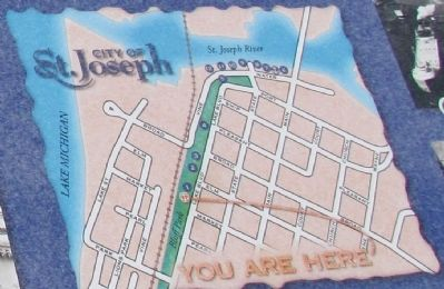 Close-up of St. Joseph Maritime Heritage Trail Map image. Click for full size.