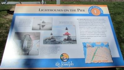 Lighthouses on the Pier Marker image. Click for full size.