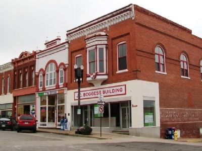 Former Boggess Hardware Store and Marker image. Click for full size.