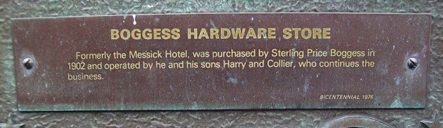 Boggess Hardware Store Marker image. Click for full size.