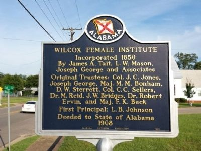 Wilcox Female Institute Marker image. Click for full size.