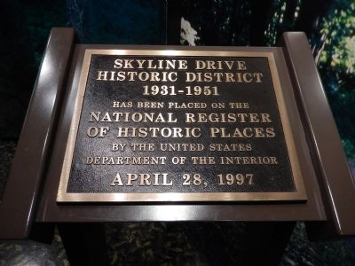 Skyline Drive Historic District Marker image. Click for full size.