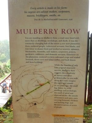 Mulberry Row Marker image. Click for full size.
