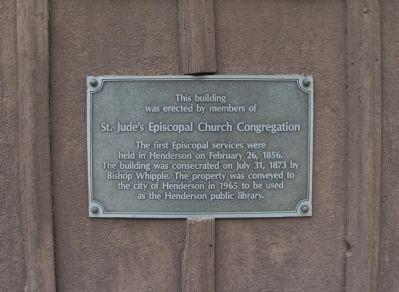 St. Jude's Episcopal Church Congregation Marker image. Click for full size.