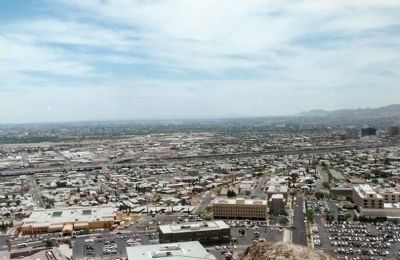 El Paso from overlook image. Click for full size.