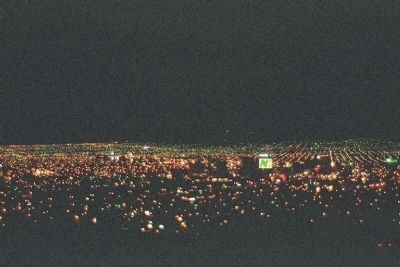 Night view of El Paso and into Mexico from Scenic Drive Overlook image. Click for full size.