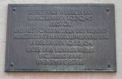 Additional plaque on Das Picken-oder Frauentor image. Click for full size.