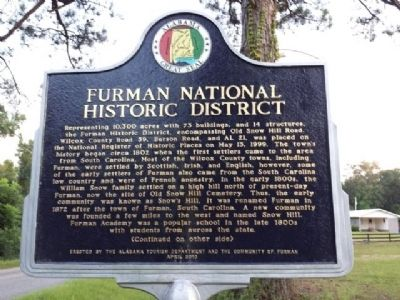 Furman National Historic District Marker image. Click for full size.