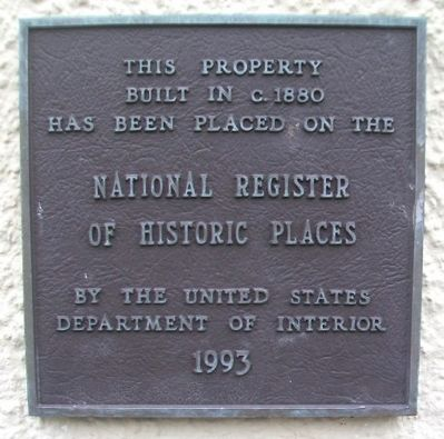 11 East Kansas Street NRHP Marker image. Click for full size.