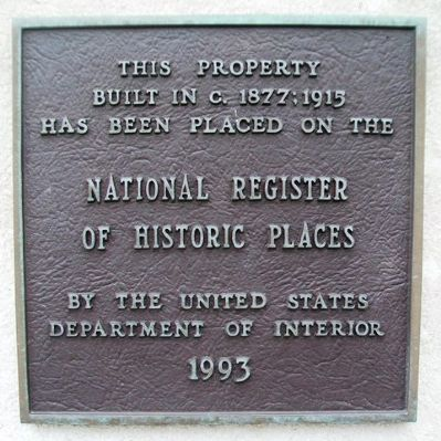 17 East Kansas Street NRHP Marker image. Click for full size.