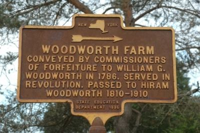 Woodworth Farm Marker image. Click for full size.