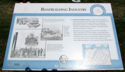 Boatbuilding Industry Marker image. Click for full size.