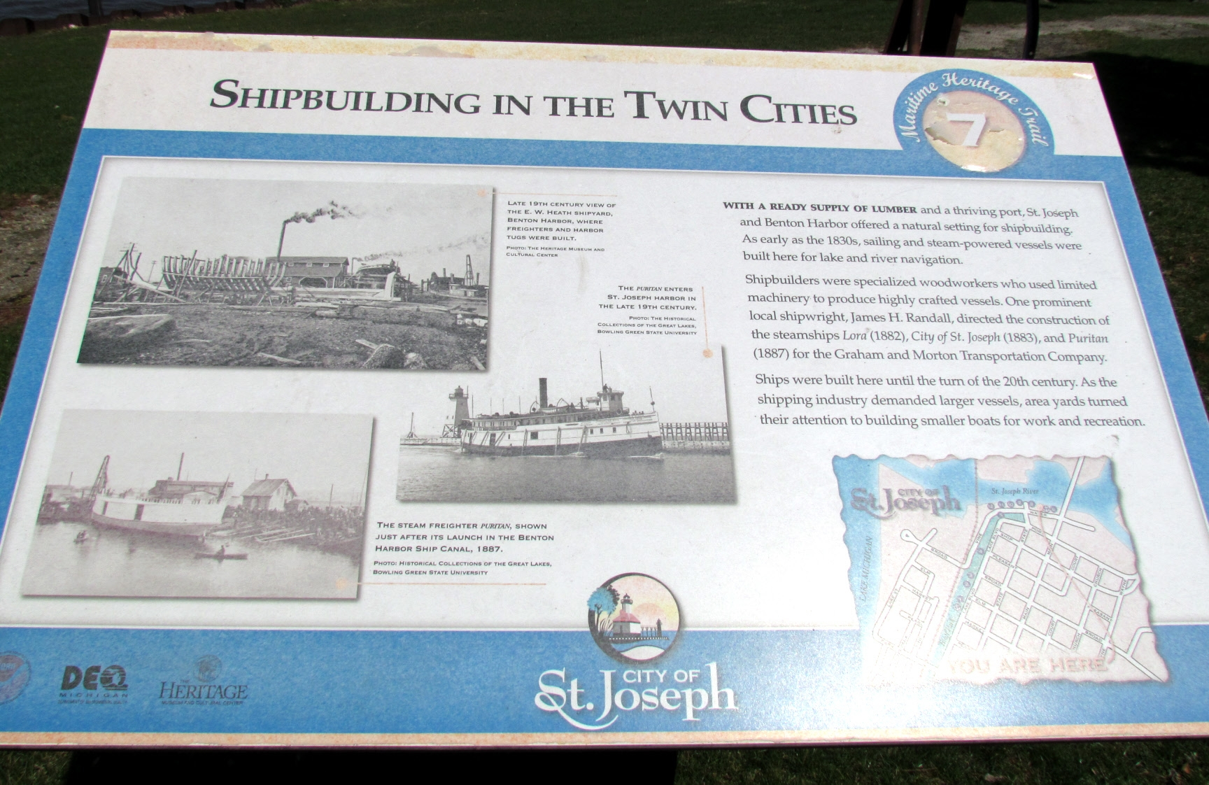 Shipbuilding in the Twin Cities Marker