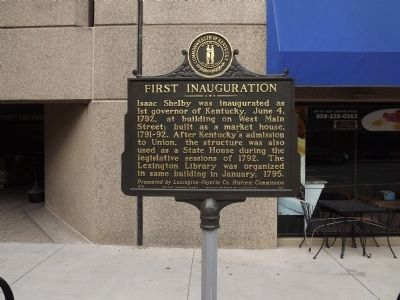 First Inauguration Marker image. Click for full size.