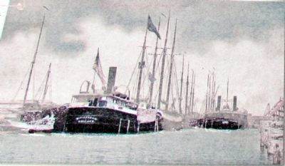 Benton Harbor Ship Canal, 1890s image. Click for full size.