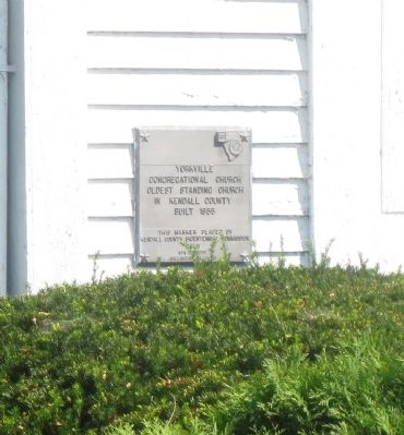 Yorkville Congregational Church Marker image. Click for full size.