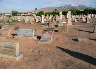 Wide view of the Urbici Soler Marker at Evergreen Cemetery image. Click for full size.